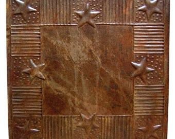 Rusty Ceiling Tile Stars and Stripes Eight Inch Square