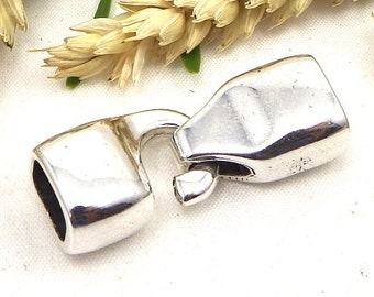 original hook clasp silver plated leather regaliz