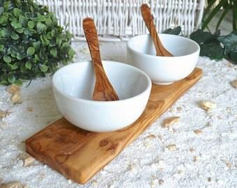 dip bowl set KLASSIK (8,5 cm / 3.3 inches) included 2 spoons