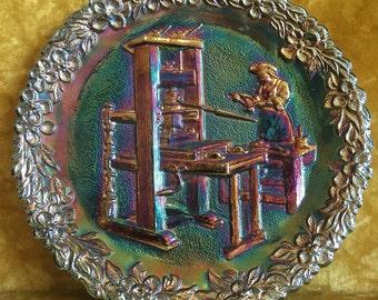 1971 Fenton Carnival Glass Plate
