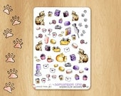 Decorative and Funny Watercolor Stickers for Cosy Times and Perfectly Fitting the September Colors in Vertical Erin Condren Life Planners