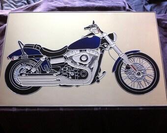 "Hand Made 'Harley' design Mirror. 38x25"""