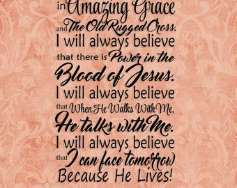"""SVG, & PNG - """"I will always believe"""""""