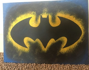 Batman Bat Symbol Acrylic Painting