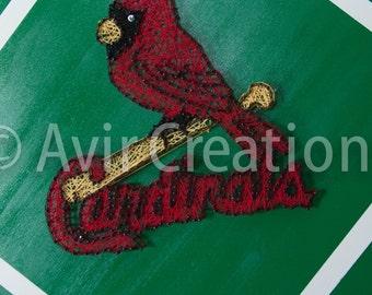 STL Cardinals String Board