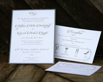 Elegant Layered Wedding Invite Set