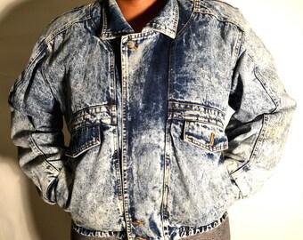 Plus size vintage jacket/ plus size denim jacket/ Plus size vintage / size 1X