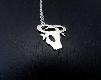 Taurus Necklace |Taurus pendant |Taurus charm |Taurus sign astrology |Sterling silver taurus sign |Star sign necklace |Birth Sign Necklace