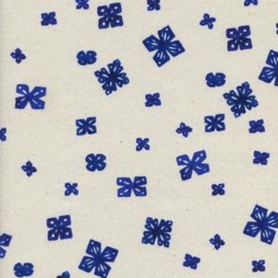 Panel Crib Skirt >> Bluebird Papercuts in Natural >> MADE-to-ORDER navy snowflake crib skirt, cobalt blue crib, gender neutral baby bedding