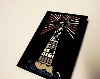 A6 Hand-Cut LightHouse Greetings Card