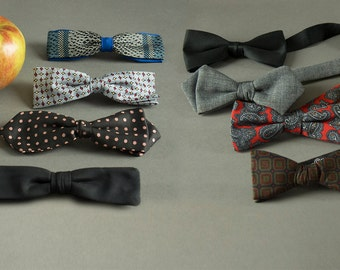 Vintage 50's - 60's Men's Bow Ties,Gentlemen's Bow Tie Collection, Vintage 50's Ties