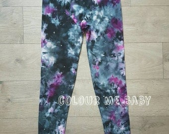 Galaxy cosmic starry nebula ladies 3/4 leggings