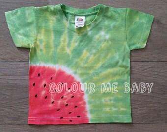 Watermelon tie dye tshirt
