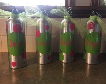Persoanlized water bottles