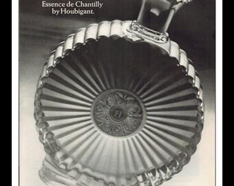 "Vintage Print Ad November 1968 : Essence de Chantilly by Houbigant Perfume Wall Art Decor 8.5"" x 11"" Advertisement"