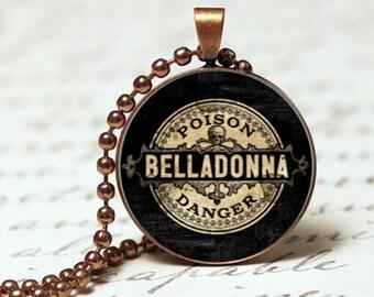 Belladonna Poison Danger gothic look pendant necklace