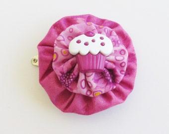Fuchsia YoYo Hair Clips, Cupcakes, Purple Cupcake Clips, Girls Hair Accessories, Girls Accessories, Retro Kids, eclectiKIDS