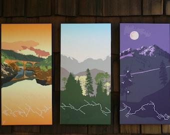 Western States Trail - Triptych Canvas