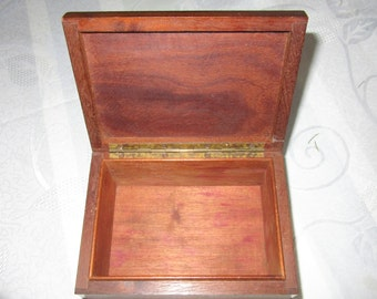 Small wooden box where box cigars
