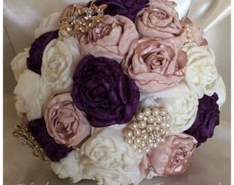 Satin Bridal Brooch Bouquet