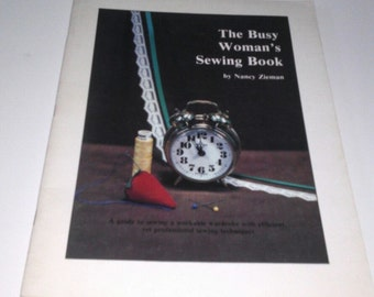 The Busy Woman's Sewing Book 1984 Nancy Zieman