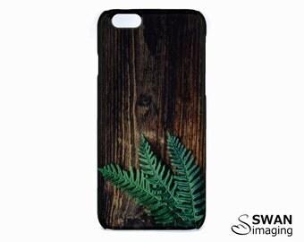 Fern iPhone Case ~ Fern leaf on dark wood timber ~ iPhone SE, 5/5S, 5C, 6, 6S, 6 Plus, 6S Plus, 7, 7 Plus