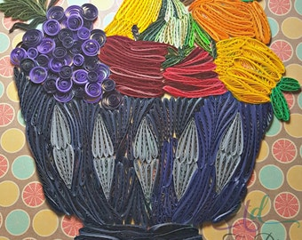 Fruit Bowl//Mixed Fruits//Kitchen Decorations//Quilled Fruits//Fruits