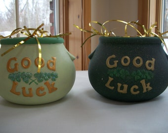 ceramic St.Patrick's Day Good Luck Pot