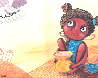 African girl illustration