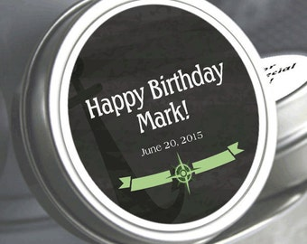 """12 Anchor Birthday Mint Tins -   - Select the quantity you need below in the """"Pricing & Quantity"""" option tab"""