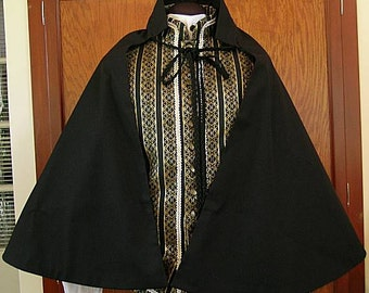 Fencing Half Cape - Fighting Sports Cloth Cloak - SCA Rapier Armor
