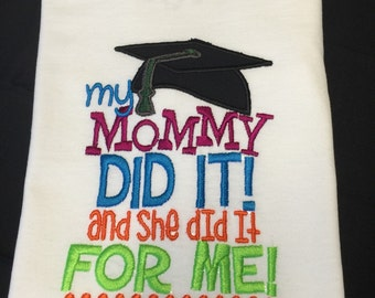 My mommy did it and she did it for me! Embroidered shirt