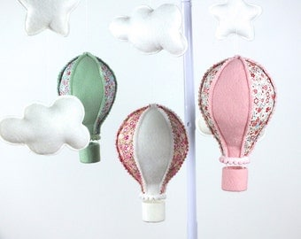 Baby Mobile, Hot Air Balloon Mobile, Baby Girl Mobile, Baby Mobile, Nursery Decor,  Gift Packaging
