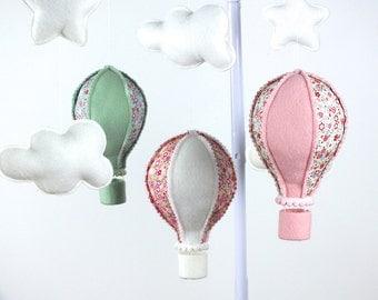 Baby Mobile, Hot Air Balloon Mobile, Baby Girl Mobile, Baby Mobile, Nursery Decor,  Gift Packaging