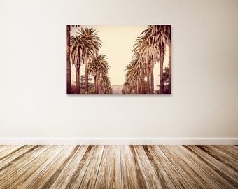 "Hollywood Canvas Art, Large Los Angeles Wall Art, Gold Wall Decor, Hollywood Sign, Extra Large Canvas Art - ""Hollywood Bound"""