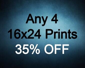 16x24 Prints - Choose any 4 ColorPopPhotoShop Fine Art Photographs