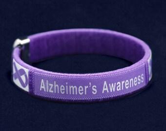 Alzheimer's awareness bangle bracelet