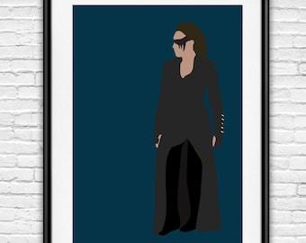 The 100 Lexa Poster / Commander Lexa / Clexa / Clarke and Lexa Minimalist Poster
