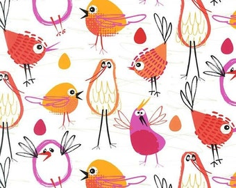 Michael Miller - Pets A' Plenty - Robin in the Hood Coral - Cotton Woven Fabric