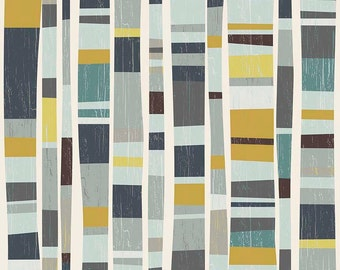 Knock on Wood by Riley Blake - Knock Main Light Gray - Cotton Woven Fabric