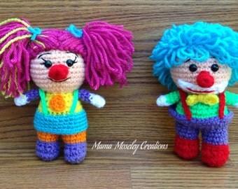 Crochet clown Set