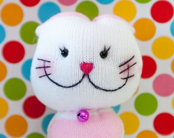 Butterfly Kitty - DIY handmade sock doll, stuffed toy, plush