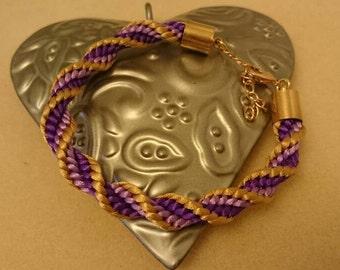 Beautiful kumihimo braided bracelet