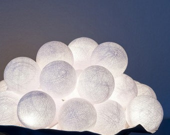 guirlande lumineuse LED 20 boules - blanc/ white// 20 balls LED garland light chain // gl boutik
