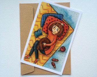 At home (postcard)