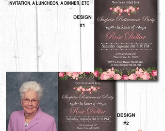 60th birthday invitations women, 30th birthday for her,