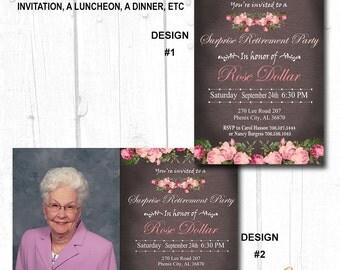 60th birthday invitations women, 30th birthday for her,