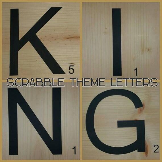 Personalized Wall Decor Letters : Scrabble themed letters personalized home decor wall art