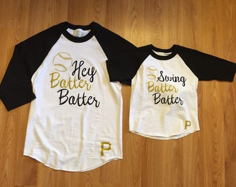 Mommy and me Hey batter batter shirt