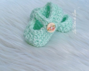 Mint Mary Jane Slippers - baby shower gift